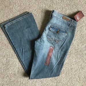 Mudd Boot Cut Light Wash Jeans Flap Pockets